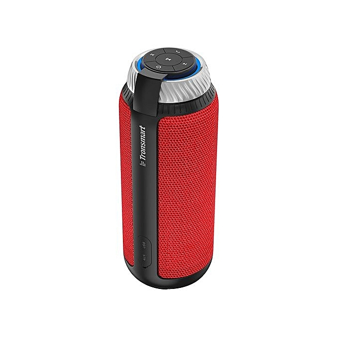 Element T6 TRONSMART 25W Bluetooth Speaker With 360°Stereo Sound And  Built-in Microphone With 5200mAh Battery - RED