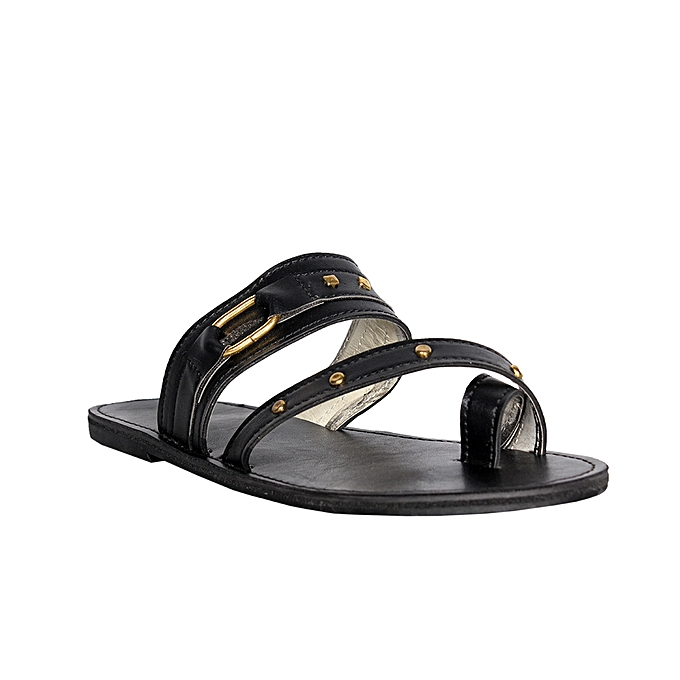 981c3017912 Fashion Women Leather Palm Slippers - Black