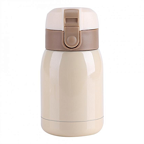 180ML Stainless Steel Double-wall Vacuum Insulated Cup Thermal Water Bottle Office Mug Beige