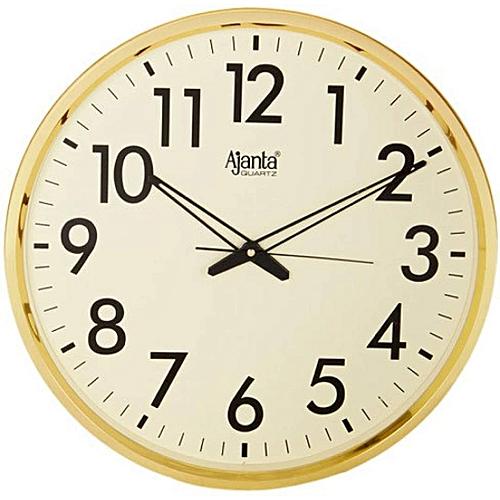 Ajanta Analog Wall Clock Gold
