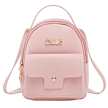 9382d68cd81 Fashion Ladies Shoulders Small Backpack Letter Purse Mobile Phone Bag