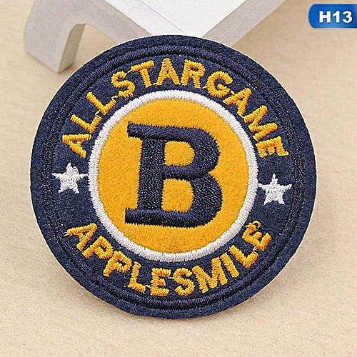 Eleganya Fashion Circular Creativity Exquisite Cute Style Embroidery Cloth Stickers H13