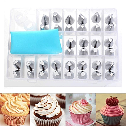 36 Pcs Stainless Steel Cream Icing Piping Nozzles Cake Decor Pastry Tips Baking Tools