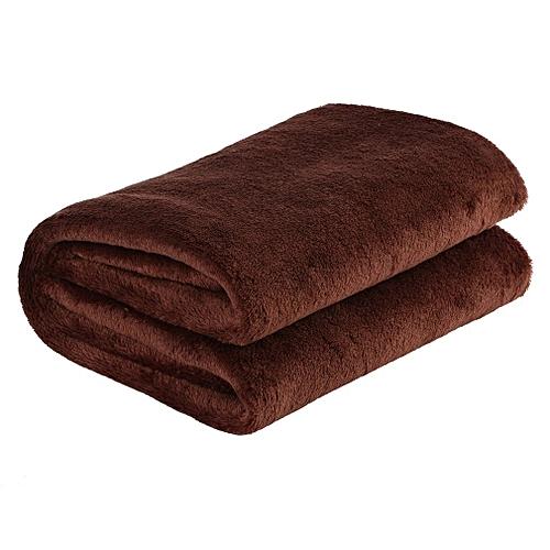 70X100cm Solid Color Blanket Coral Fleece Comfortable Home Bed Sofa Blanket Coffee