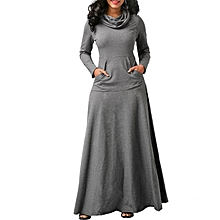 d264220e6618 Womens Long Sleeve Skinny Sweatshirt Maxi Dresses