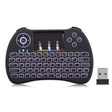H9 Wireless Mini Keyboard Backlight Function With Touchpad Support RGB - Black