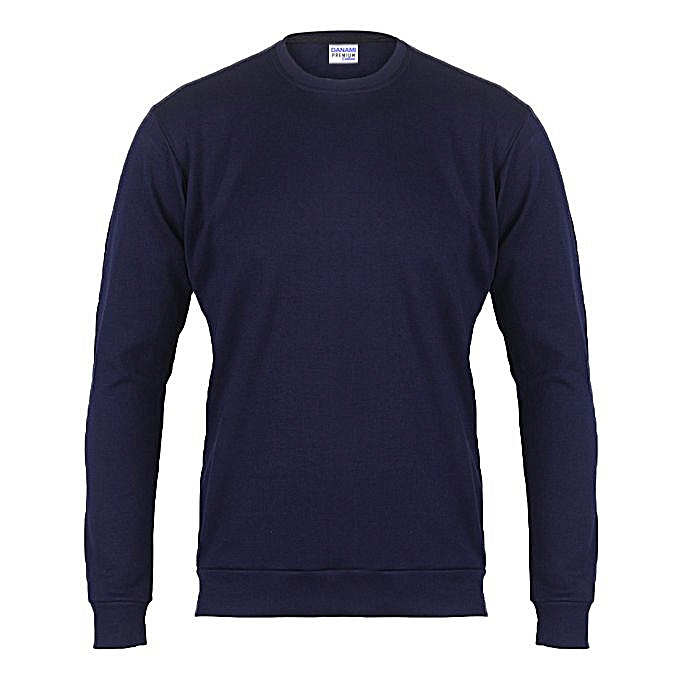 Danami Plain Customisable Sweatshirt- Navy Blue  a73d24ebafc
