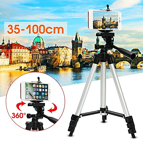 1Pcs Stretchable Camera Tripod Stand Mount Holder For IPhone Samsung Cell Phone +Bag