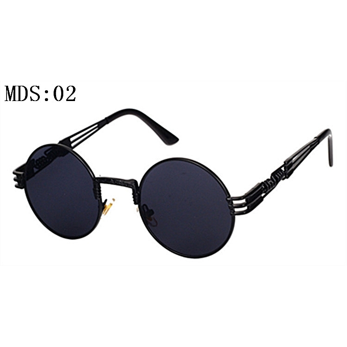 59857898ad Gothic Steampunk Sunglasses Men Women Metal Wrapeyeglasses Round Shades  Brand Designer Sun Glasses Mirror High Quality