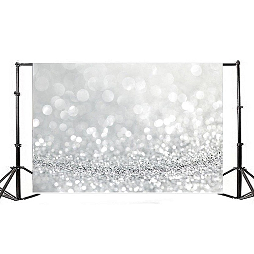 Silver Glitter Bokeh Photography Backgrounds 7x5ft Vinyl Photo Studio Backdrops [90x150cm]