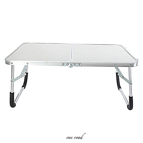 24-Inch Aluminum Alloy Portable Laptop Table Folding Table Bracket Computer Laptop Bed Tray