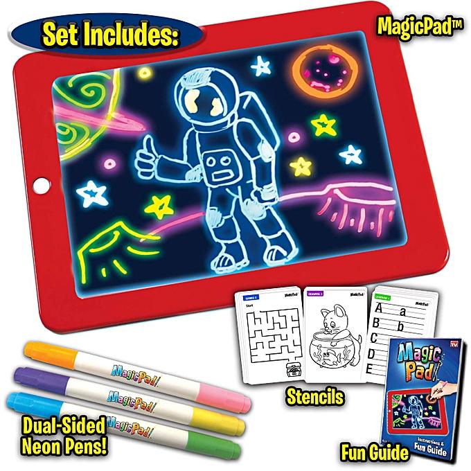 Magic Light Up LED Pad- Draw, Sketch, Write & Learn