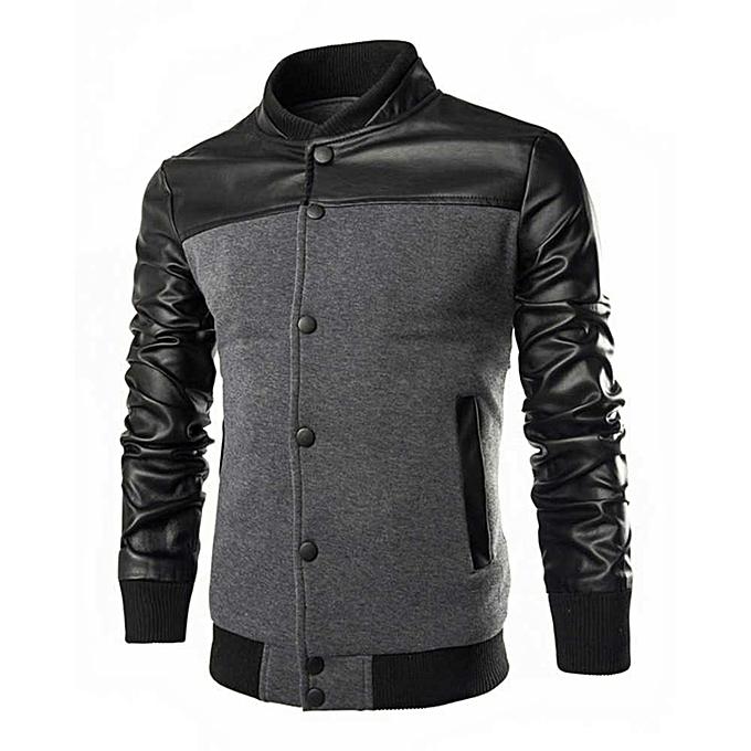 7f0c6224c Men's Patchwork Jacket - Black/Grey