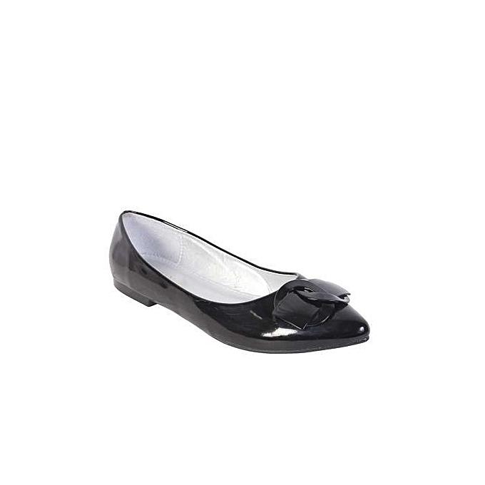 Fashion Office Comfortable Ladies Flat Cover Shoes - Black  cfdfd4a9aca