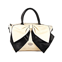 Ladies Top Grab Bag With Chain On Zipper Tote Fashion Hand Bag - Black With  Sliver f10b9c3992