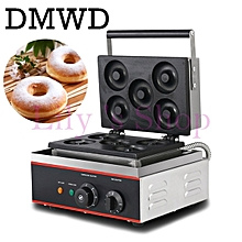 DMWD Commercial Doughnut Baking Machine 5 Grid Egg Waffle Donut Cake Snack Maker Stainless Steel Electric Breakfast Pancake Iron for sale  Nigeria