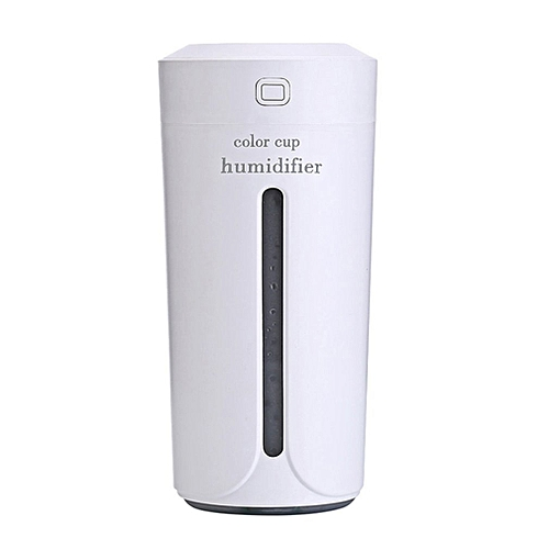 Mini Cup Shape Air Humidifier USB Charging Colorful Night Light Mist Maker White