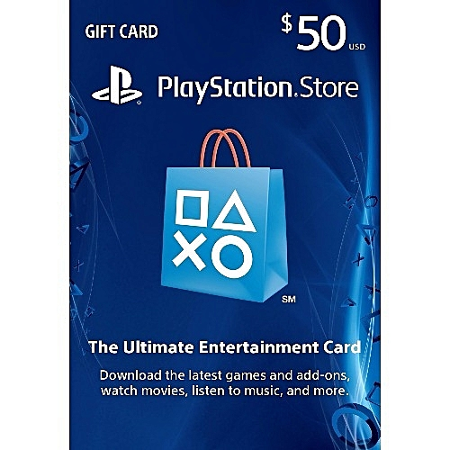 PlayStation PSN Store $50 Gift Card For PS3/PS4/PSvita