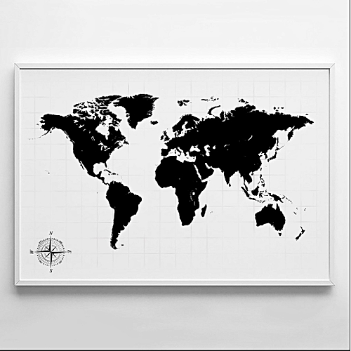 Wall Art - World Map Photography Poster Wall Art Print Modern Nordic Art Home Decor Trending Popular Wall Art