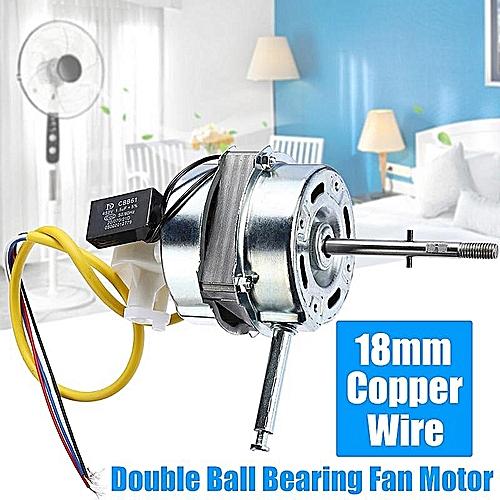 Fan Motor 18mm Copper Wire Double Ball Bearing AC 220V 60W Pure Copper Motor