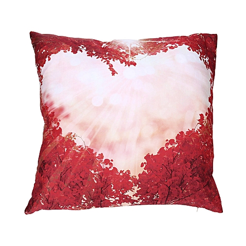 Fashion Valentine's Day Print Pillow Cases Polyester Sofa Car Cushion Cover Home Decor