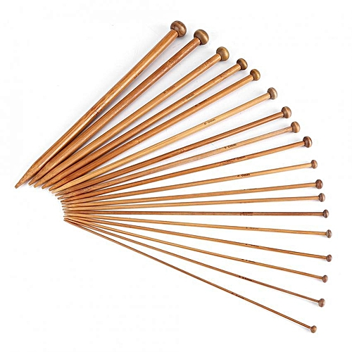 Bamboo Knitting Needles With Single Size Sharp (18 Sizes From 2mm To 10mm)