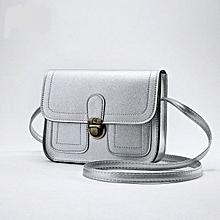 Small Square Ladies Fashion Handbags Retro Bag Shoulder Bag - Silver