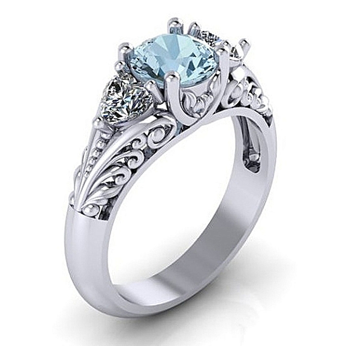 ce4a5bd1e4 Generic Sapphire Engagement Ring Creative Couple Ring | Jumia NG