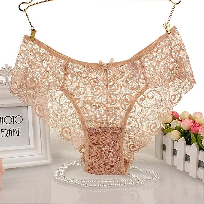... 6pcs lot Women s Panties Transparent Underwear Women Full Lace Soft Briefs  Sexy Lingerie Mid Waist ... 6f1385c62