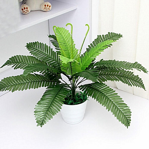 Artificial FLoral Boston Fern Silk Fake Plant Leave Foliage Home Office Decor