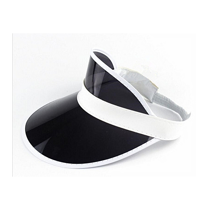 ffd766bc TRENDY BLACK ZEDHATS VISOR - SUNVISOR PARTY HAT CLEAR PLASTIC CAP  TRANSPARENT PVC SUN HATS SUNSCREEN