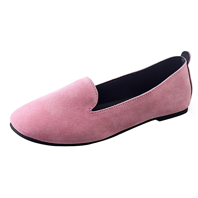 db142233f Blicool Shoes Women Ladies Slip On Flat Round Toe Shallow Shoes Sandals  Casual Shoes Pink