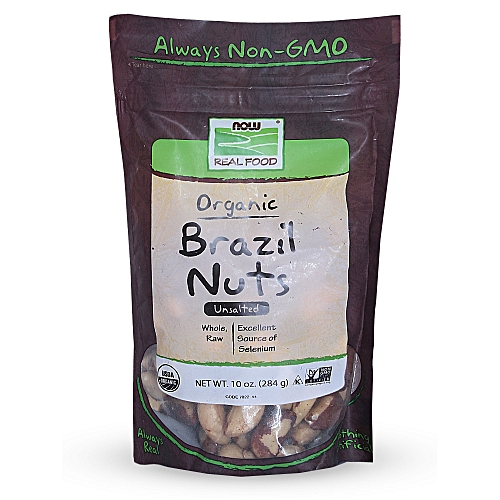 Real Food Organic Brazil Nuts Unsalted -- 10 Oz