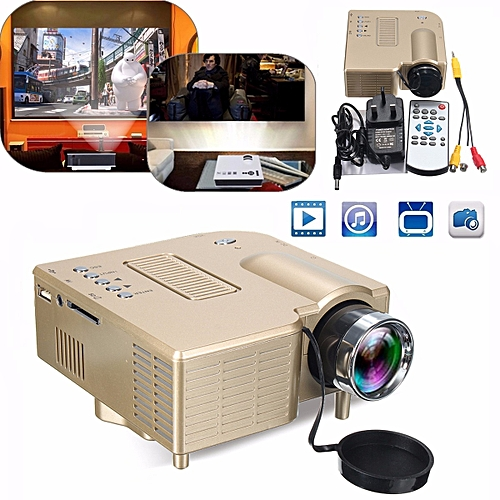 Mini LED 400lm Projector HD1080P Home Theater HDMI USB AV Cinema For PC Laptop UK