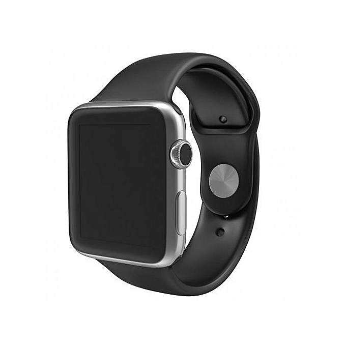 SIM/TF Bluetooth Sport Pedometer Wrist Watch A1G08 Smartwatch For Android Smartphone And Apple 5 5S 6 6 Plus (balck)