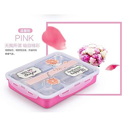 304 Stainless Steel 4 Partitioned Lunch Box