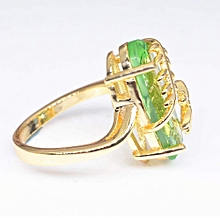 RAN Dragonfly Ring Natural Transparent Peridot Gemstone Rings Luxury Wedding Ring, used for sale  Nigeria