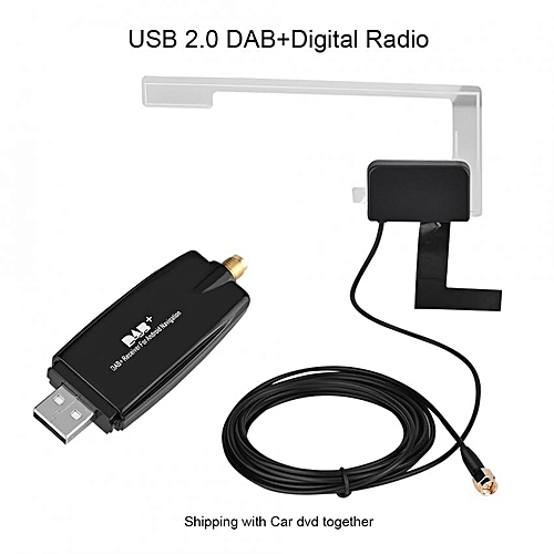 Portable USB2.0 Car Digital Radio Receiver DAB+ DAB Radio Tuner Stick W/ Antenna For Android