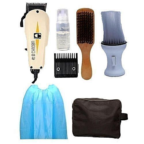Hair Clipper - With Barbing Apron, Clipper Bag, Powder Brush & Hair Brush