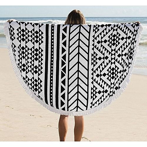 150cm Pure Cotton Bohemia Roud Tassel Knitted Beach Towel Lantern Towel Home Blanket