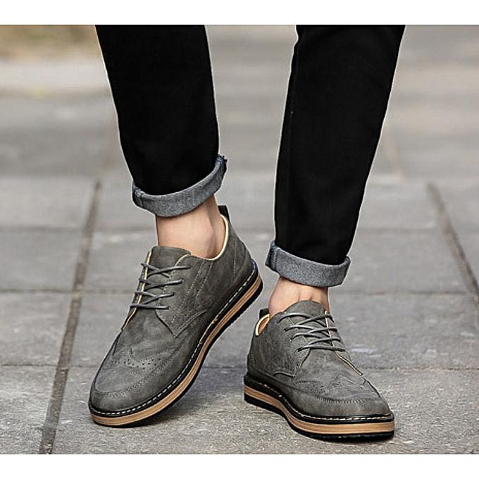 2019 Men Shoes Mens Canvas Shoes Casual Breathable Shoes Flat Shoes-grey