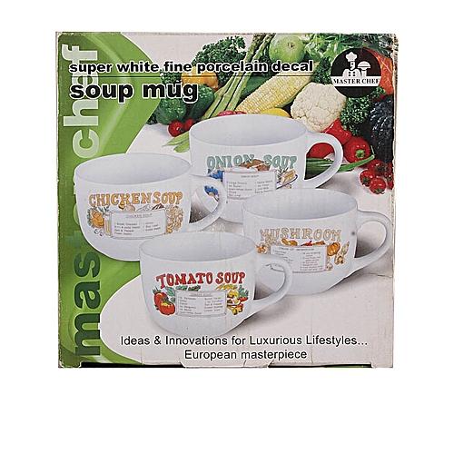 4 Piece Soup Mug Set