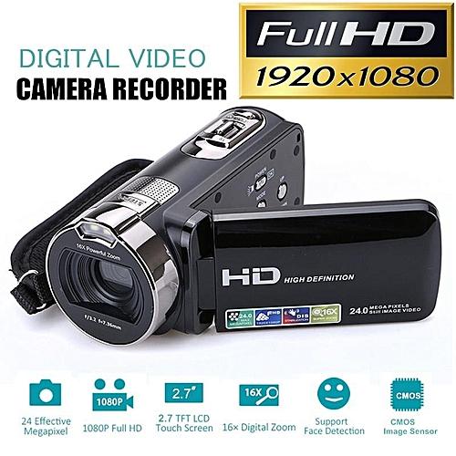"24M Full HD 1080P Digital Video Camera DV Camcorder Recorder With 2.7"" LCD Screen Black"