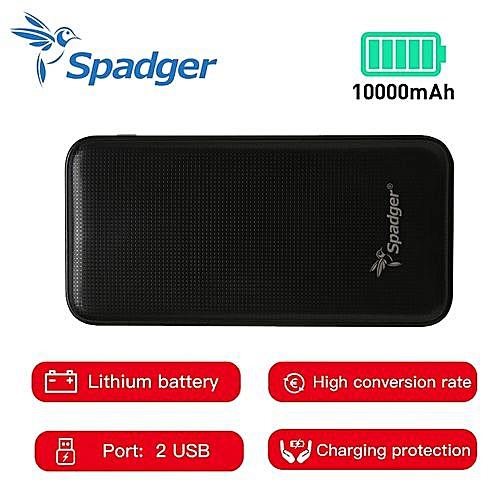 Spadger Power Bank 10000mAh - Li-Battery - K521 - Black