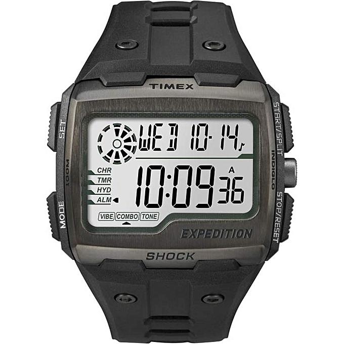 2bf445042 TW4B02500 Men's Expedition Digital Shock Black Chronograph Resin Watch