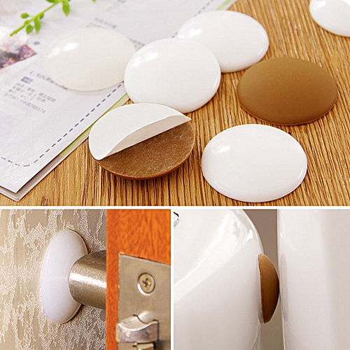 Crash Cushions Mute Rubber Door Wall Thickening Round Doorknob Protective Pad Anti-collision Crash
