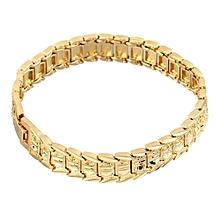 18K Gold Plated Men Bracelet Fashion Vintage Link Bracelet For Men Male