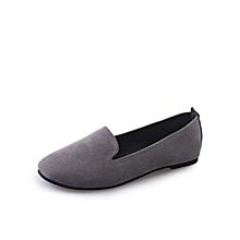 d4cca62de1b4 New Women Flats High Quality Basic Flat Slip On Shoes(Color  Grey)