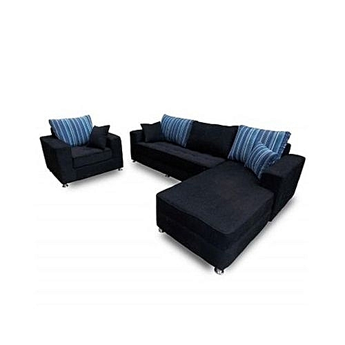 Adorable 6-Seater L-Shaped Sofa. 'ORDER NOW AND GET A FREE OTTOMAN' (Delivery To Lagos Only)