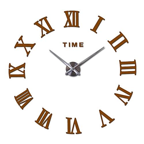 Hot Sale Real Large Home Decorative Wall Clocks Quartz Modern Design Wall Clock Watch Horloge 3d Diy Acrylic Mirror Stickers SLS